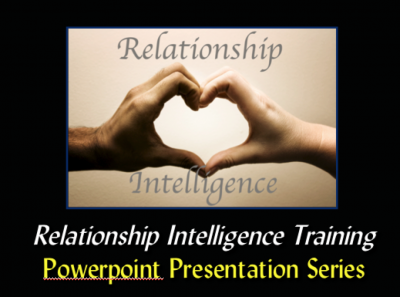 "Relationship Intelligence Training Powerpoint Series CD-ROM - Love Smarts - Be ""Love Smart"" in a love-challenged world!"