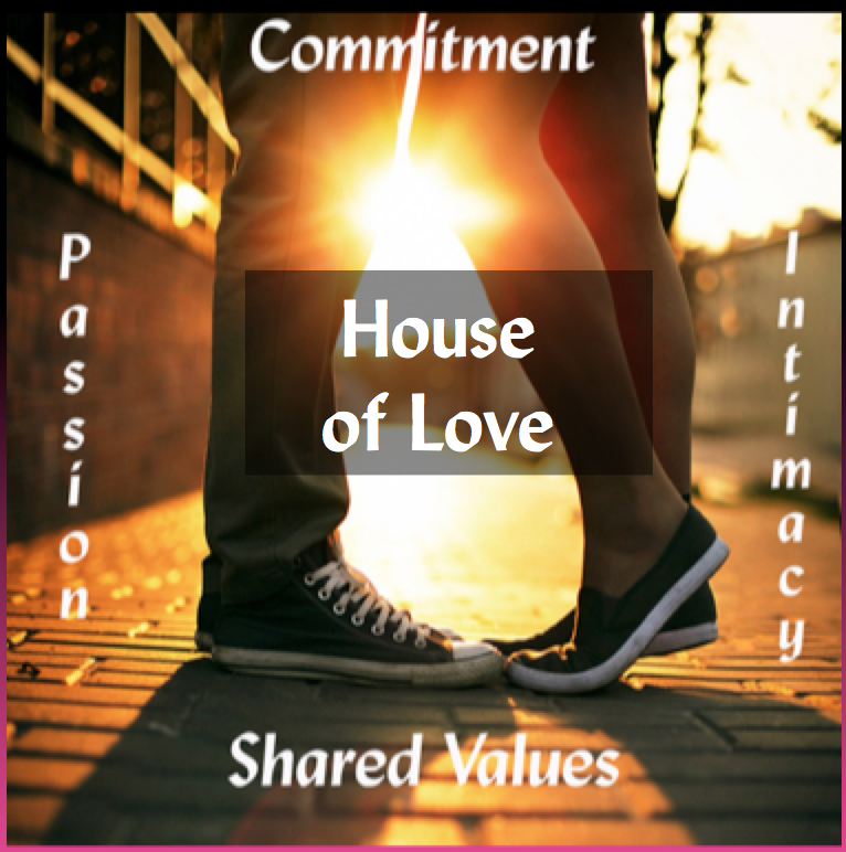 House of Love - Commitment, Passion, Intimacy, Shared Values