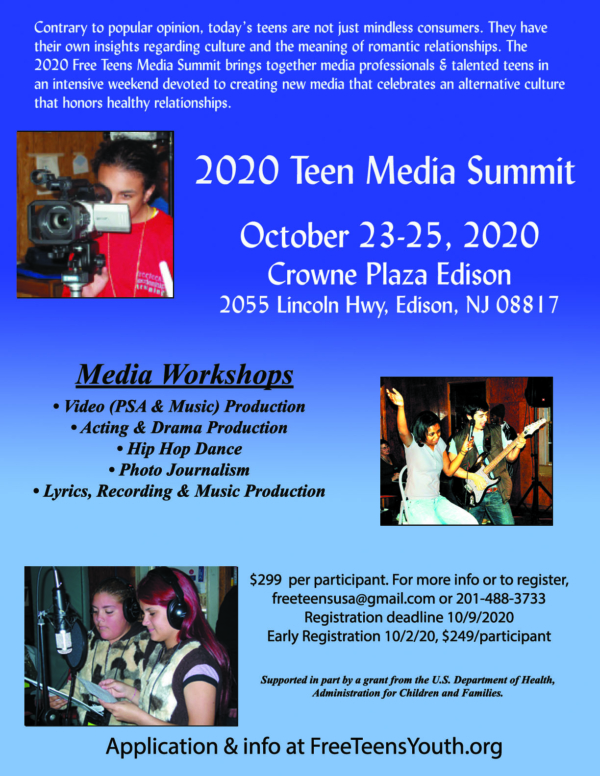"2020 Teen Media Summit Registration - Love Smarts - Be ""Love Smart"" in a love-challenged world!"