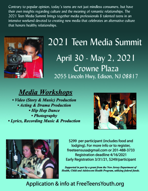 "2021 Teen Media Summit Registration - Love Smarts - Be ""Love Smart"" in a love-challenged world!"
